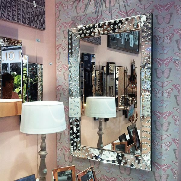 Miroir strass swarovski elements achat vente miroir for Grand miroir pas cher conforama