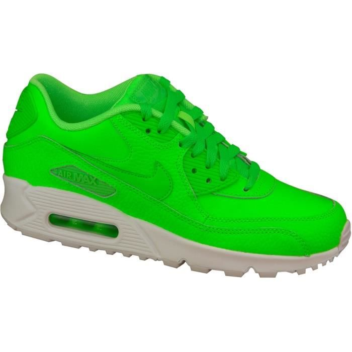 "Nike Air Max 90 Ltr Gs 724821-300 Femme baskets ""Voltage Green White"""