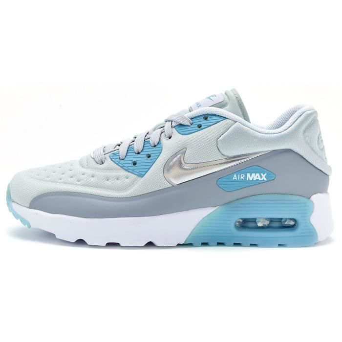 plus de photos 28da7 238ff Baskets Nike Air Max 90 Ultra SE GS Chaussures in Gris Bleu & Silver  Metallic 844600 002 [UK 4 EU 36.5]