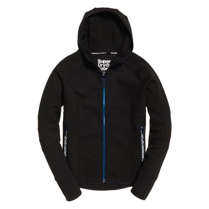 vêtements femme sweatshirts superdry core gym tech panel ziphood. sweat à capuche à glissière superdry pour femmes core gym tech. ce