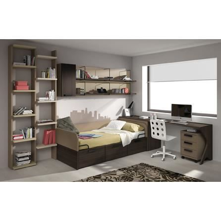 Chambre complete e marron design de maison for Chambre marron