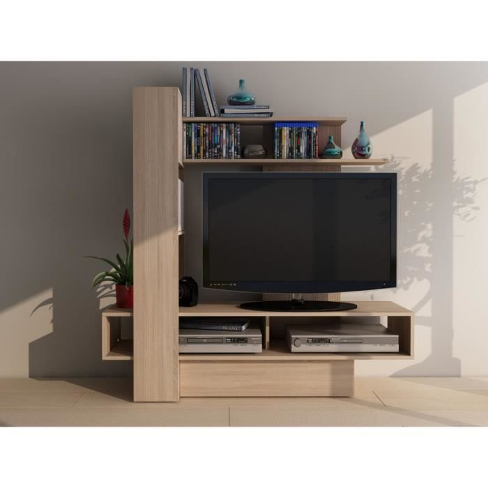 mur tv kabello avec rangements ch ne achat vente meuble tv mur tv kabello avec rangeme. Black Bedroom Furniture Sets. Home Design Ideas