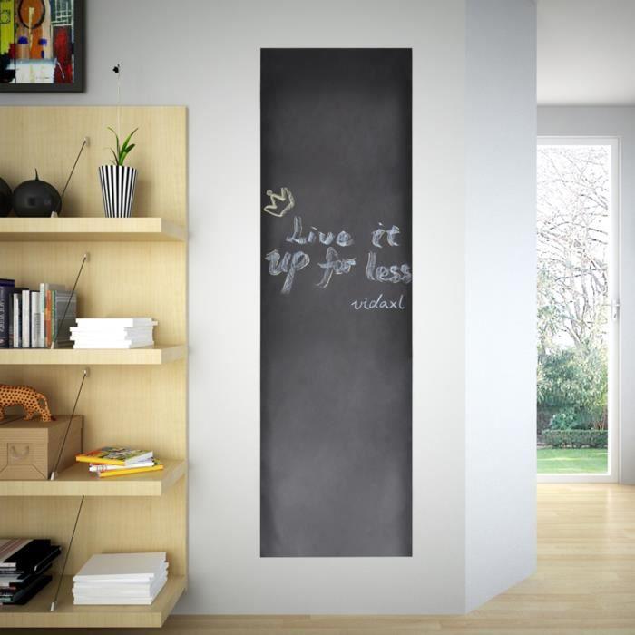 vidaXL Tableau Noir magn/étique Mural en Verre 60 x 40 cm