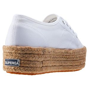 Femmes Flatform White Rope UK 8 Baskets Superga 2790 wUZtR