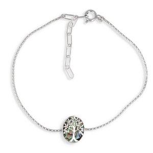 """Round grec Link Bracelet Brillant Poli Véritable Argent Sterling 925 7.5/"""" italien"""