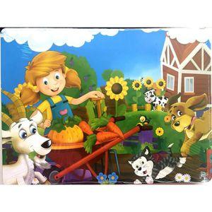 PUZZLE Animaux en bois Puzzle Blocks Puzzle Kid Learing j