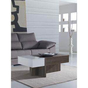 TABLE BASSE Table basse relevable moderne BEVIN L 110 x P 60 x