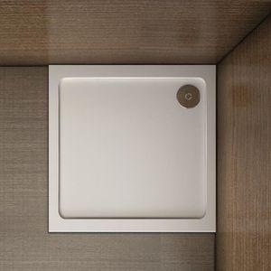 vidaXL Receveur de Douche Bac de Douche Salle de Bain Maison Int/érieur Anti-rouille Anti-humidit/é ABS Blanc 80x100 cm