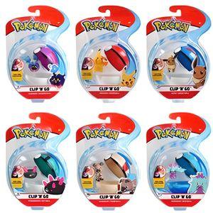 FIGURINE - PERSONNAGE Pokémon-Pokéball Clip et sa figurine 5 cm