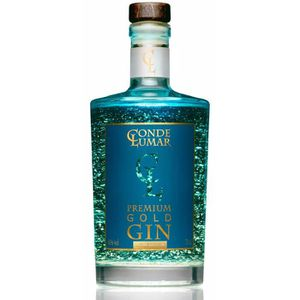 GIN Gin Premium Conde Lumar avec feuilles d'or 23K - A