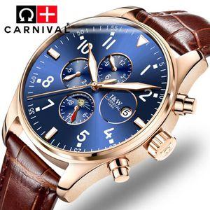 MONTRE CARNIVAL® Montre bracelet Homme  - Cuir - Marron