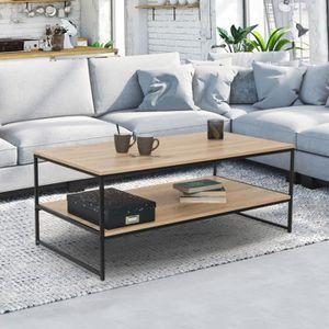 TABLE BASSE Table basse double plateau DETROIT design industri