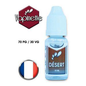 LIQUIDE E-liquide français goût Tabac Désert (0 Mg)