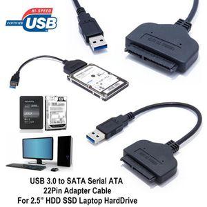 CÂBLE INFORMATIQUE USB 3.0 vers SATA Série ATA 22 Pin Câble Adaptateu