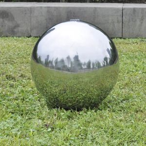 FONTAINE DE JARDIN Fontaine de jardin sphère avec LED en acier inoxyd