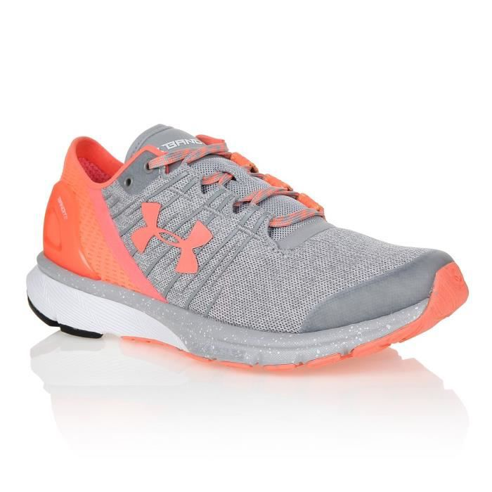 UNDER ARMOUR Chaussures multisport Charged bandit 2 - Femme - Gris corail