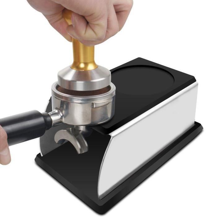 CAFE EN GRAINS Taille CAFE EN GRAINS support robuste en acier inoxydable et en Silicone pour Machine à CAFE EN GRAINS, porte-Espre
