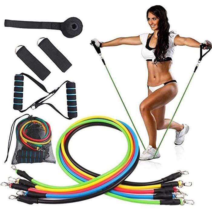 11 pcs - ensemble caoutchouc naturel Latex Fitness bandes de résistance exercice élastique Pul ne7199