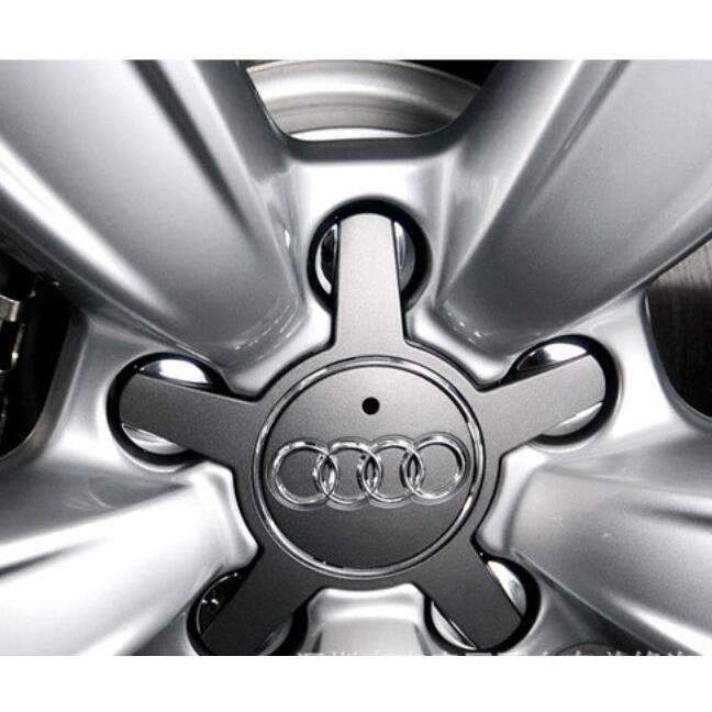 4Pcs Audi Gris hubcaps Couvercle Centre Enjoliveur modifié Enjoliveur Ipomoea A1 A3 A4 A5 A5 Q3 Q5