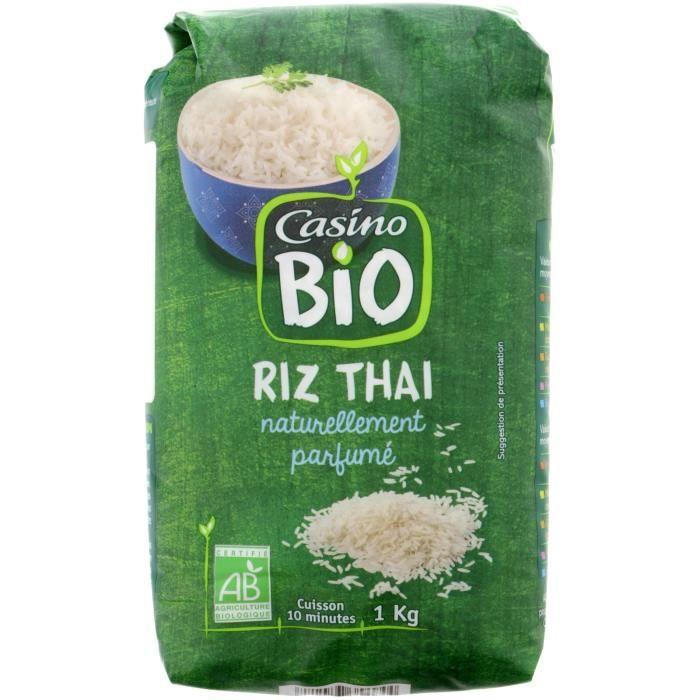 CASINO Riz Thai Blanc Bio - 1Kg