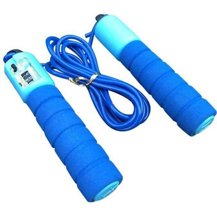 Corde à sauter enfants sautant corde à sauter longueur réglable compte automatique ZZF71123618BU PRODUIT D\'ENTRETIEN MACHINE FIT