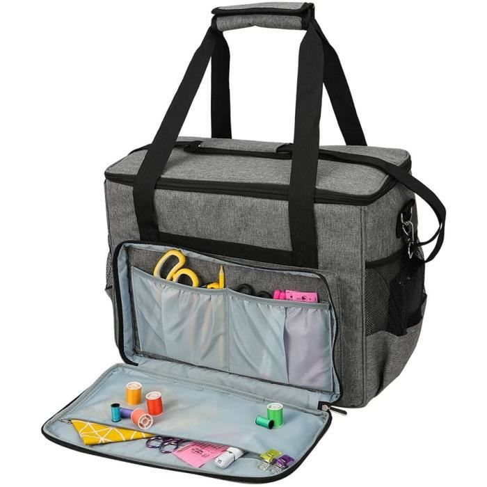 MACHINE A COUDRE C Sac de transport pour machine agrave coudre Impermeacuteable et durable Grande capaciteacute Gris101