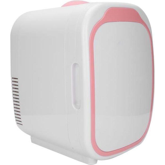 Mini réfrigérateur Mini Frigo de Maquillage 6L Réfrigérateur Cosmétique de Voiture Ménage Refroidisseur Électrique de