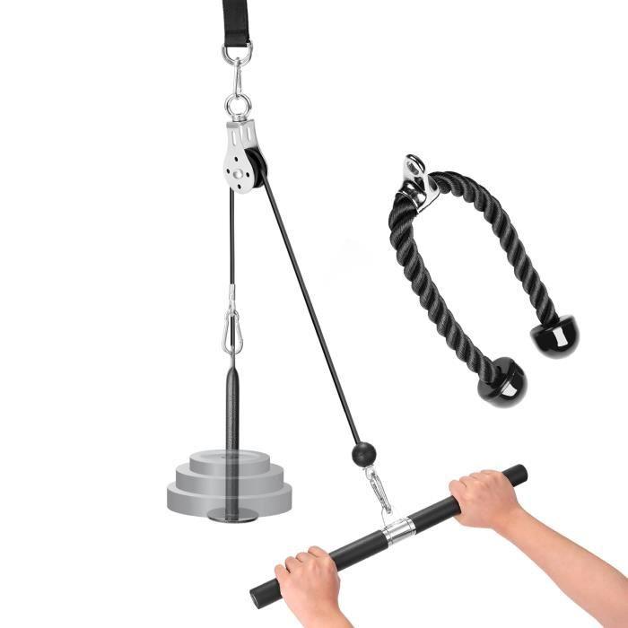 Bricolage poulie corde système de remise en forme appareil de remise en forme auto fait équipement de musculation tirer