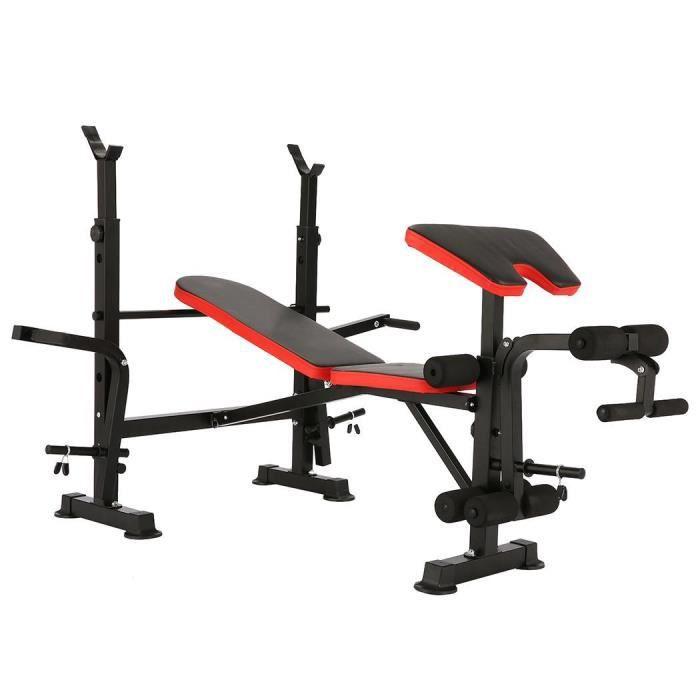 Banc de Musculation Multifonction Pliable Charge150kg 140x152x128cm CAROMA