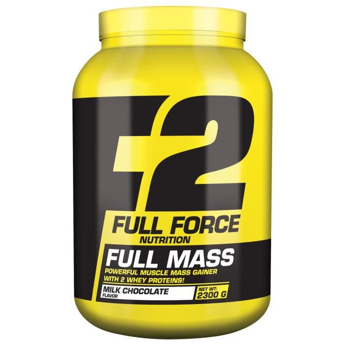 FULL MASS 2300g CHOCOLAT - Full Force Nutrition Proteine Gainer