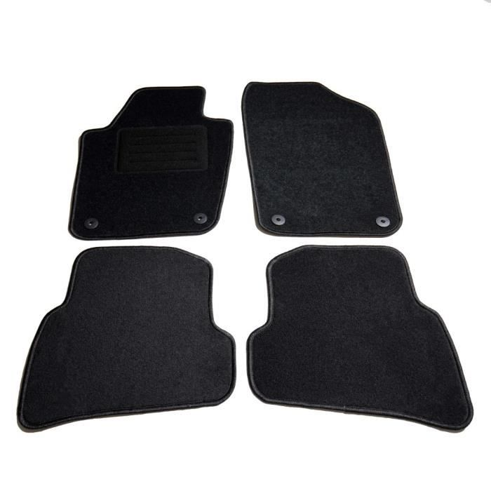 GOT-TAM Ensemble de tapis de voiture 4 pcs pour VW Polo V