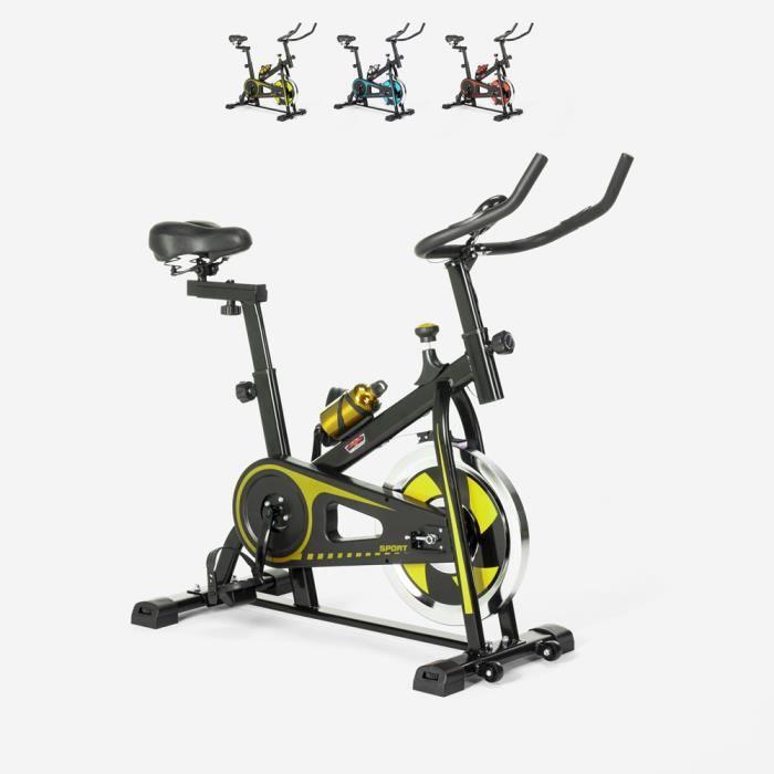Spin Bike Spinning Fit Bike avec volant professionnel Minerva - couleur:Jaune