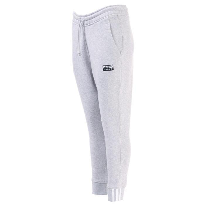 Pantalon De Jogging Adidas Originals Ryv Cuffed Pour Femme En Gris Clair