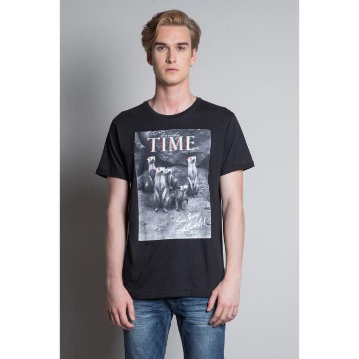 DEELUXE T-shirt avec photo SURICATE Black