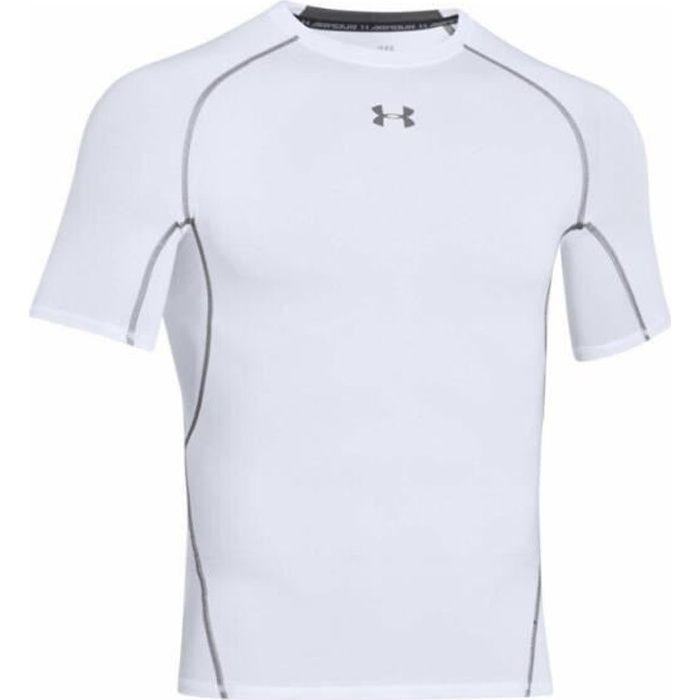 T-shirt de compression Under Armour HeatGear blanc pour homme