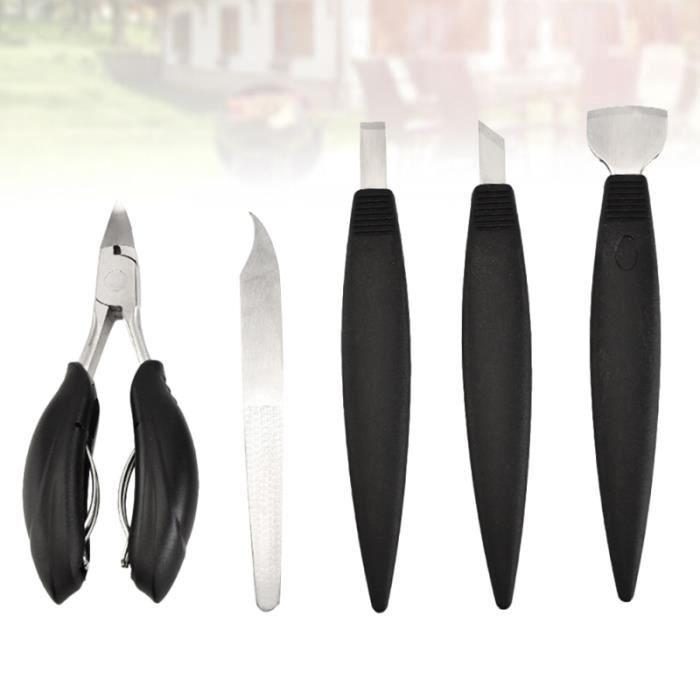 5pcs outils de pédicure lime à pied peau fissurée cors calus dissolvant outil de COFFRET DE MANUCURE - KIT MANUCURE - PEDICURE