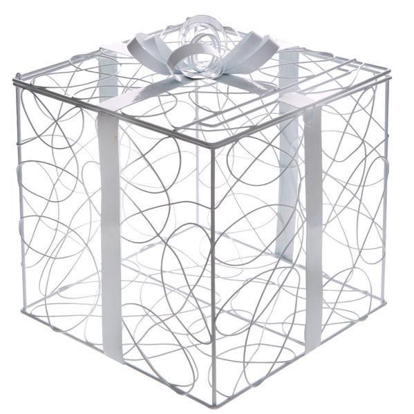 SANTEX 5400-1, Tirelire Boîte Cadeau en métal bl