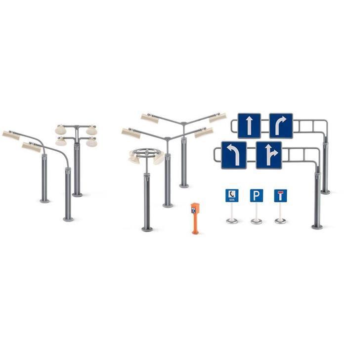 Panneaux de signalisation et réverbères