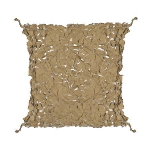 Filet de camouflage 80% de protection 4x5 m +câble acier - Beige