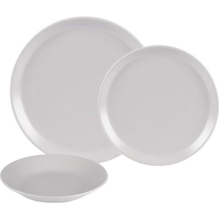 Service d'assiettes itit gris 18 pièces - Table Passion Multicolore