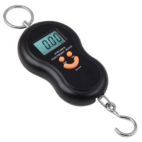 TRIXES Balance digitale à crochet pour la pêche, les valises, les colis etc. jusqu'à 40 kg.