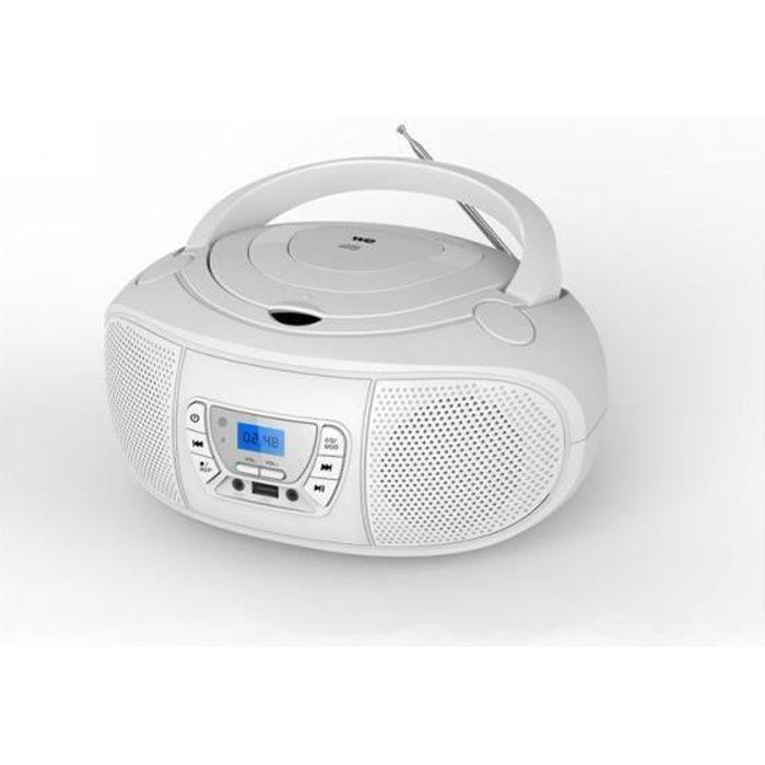 Lecteur Radio CD-MP3 Blanc - WERADCDTELBL