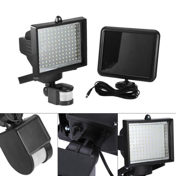 120 LED Capteur de mouvement solaire lampe de jardin rayon infrarouge Lumière PR Sécurité maison - XY FR