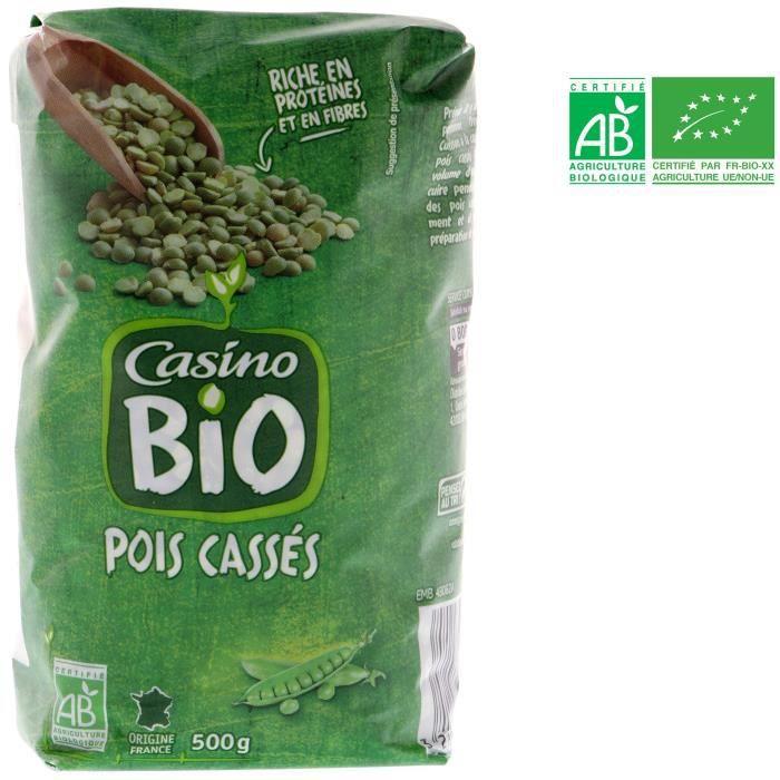 Pois cassés verts bio - 500 g