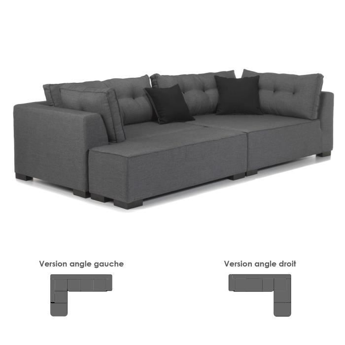 coming canap d 39 angle droit avec banc achat vente canap sofa divan cdiscount. Black Bedroom Furniture Sets. Home Design Ideas