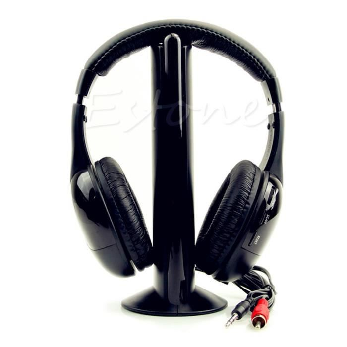 nouveau 5 en 1 salut fi sans fil pour casque couteurs tv dvd mp3 pc psp casque couteur. Black Bedroom Furniture Sets. Home Design Ideas