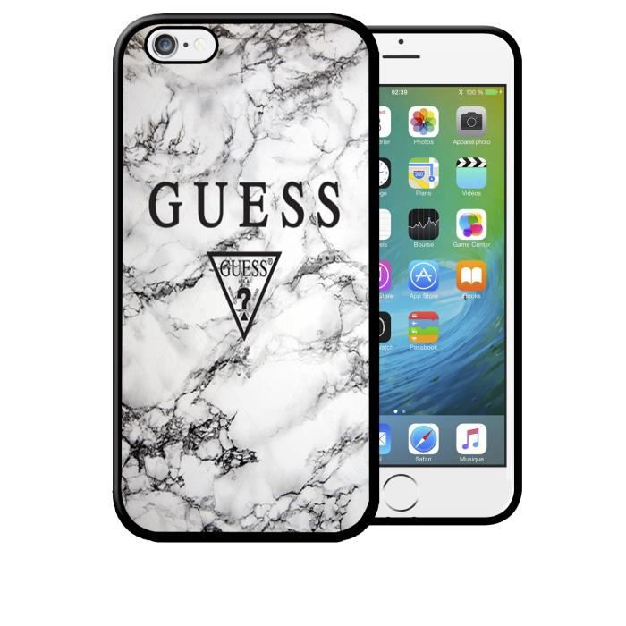Coque iPhone 5C GUESS Effet Marbre Blanc Luxe Swag