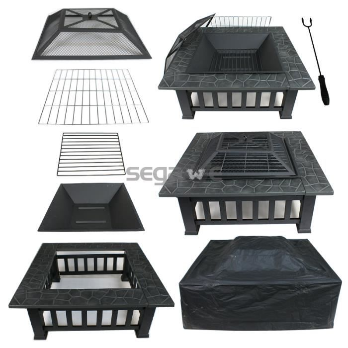 3 en 1 brasero de jardin barbecue de table achat vente brasero accessoire 3 en 1 brasero. Black Bedroom Furniture Sets. Home Design Ideas