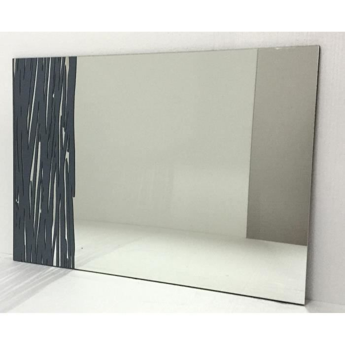 Miroir mur design moderne sc013 110x80cm achat vente for Decoration miroir mur