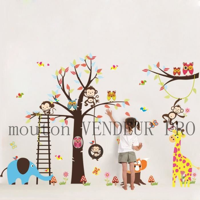 Stunning Stickers Chambre Bebe Arbre Pictures  Amazing House Design